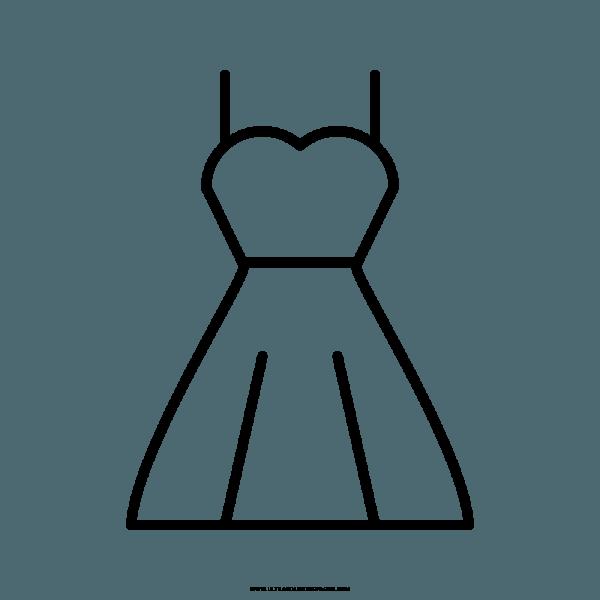 Vestido De Casamento Desenho Para Colorir – Coloring City
