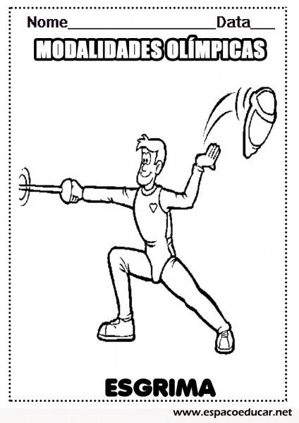 Esgrima  Desenhos Das Modalidades Esportivas Das Olimpíadas Para