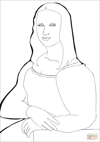 Resultado De Imagem Para Desenhos Da Mona Lisa