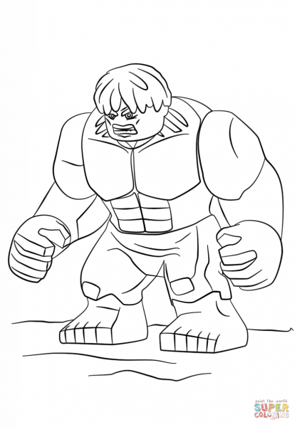 Lego Hulk Coloring Page Free Printable Coloring Pages
