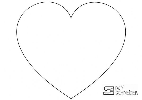 Resultado De Imagem Para Molde De Coração Grande Para Imprimir