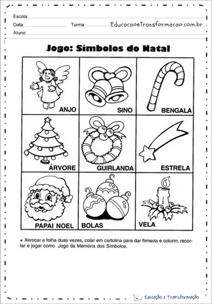 Jogo  Símbolos De Natal