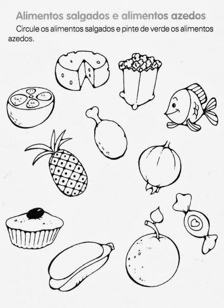 Alimentos Para Colorir