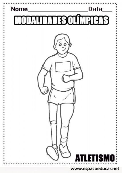 Desenhos Das Modalidades Esportivas Das Olimpíadas Para Colorir