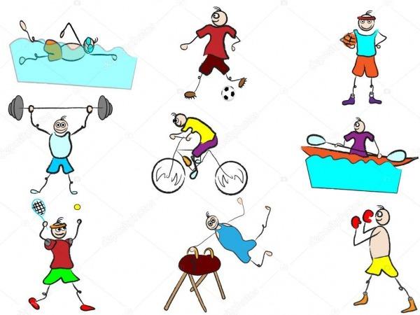 Olimpíadas Dos Desenhos Animados Desporto Ilustração Vetorial De