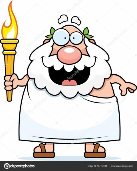 Olimpíadas Gregas Dos Desenhos Animados — Vetores De Stock
