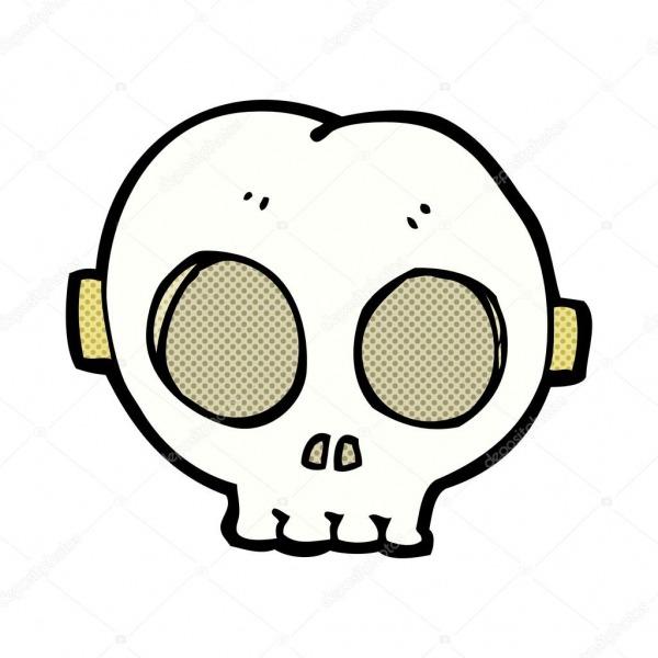 Máscara De Caveira Halloween Desenhos Animados Em Quadrinhos