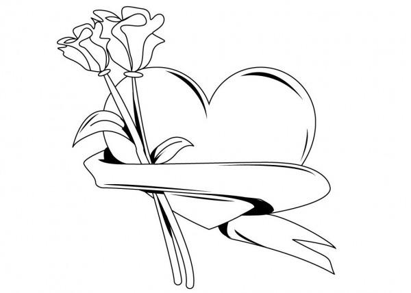 Desenho De Rosas Para Imprimir – Pampekids Net