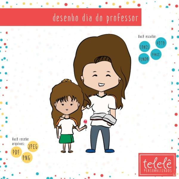 Desenho Digital Para Dia Do Professor No Elo7