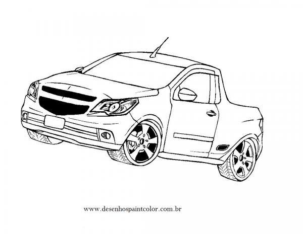 Desenhos De Carros Tunados E Rebaixados Para Colorir, Imprimir