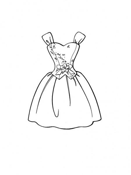 Desenhos De Vestidos Para Colorir – Free Coloring Pages