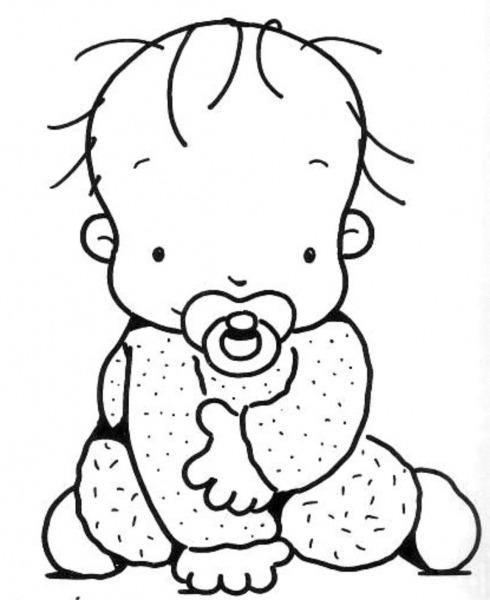 Desenho Para Colorir Bebe