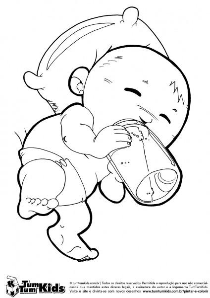 Desenhos Para Colorir Bebe – Pampekids Net