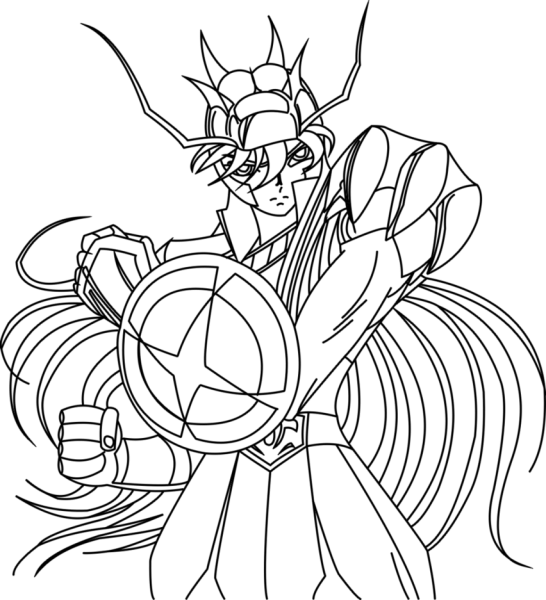 Desenhos Para Colorir Dos Cavaleiros Do Zodiaco