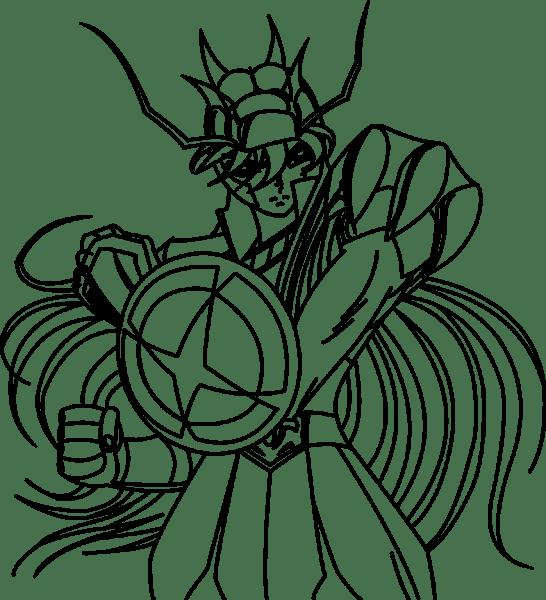 Os Cavaleiros Do Zodiaco Para Colorir