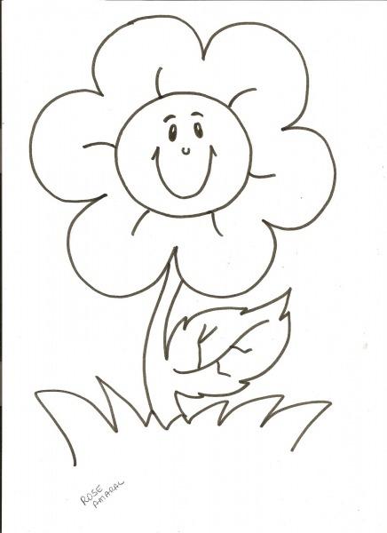 Figuras De Flores Para Colorir