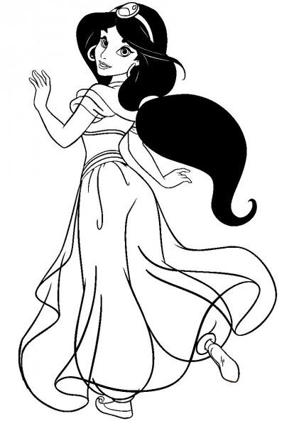 Desenhos Para Colorir E Imprimir Desenhos Para Colorir Da Jasmine