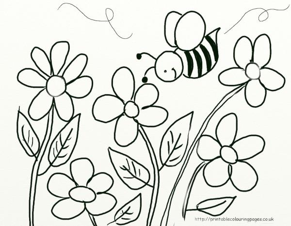 Figura De Flor Para Colorir