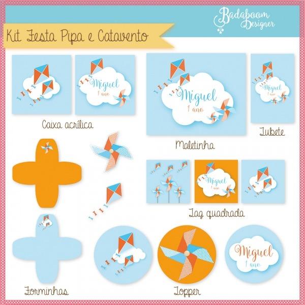 Kit Festa Infantil Pipa E Catavento I No Elo7