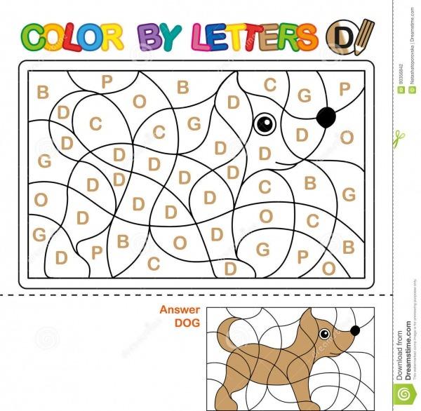Livro Para Colorir De Abc Para Crianças Cor Por Letras Aprendendo