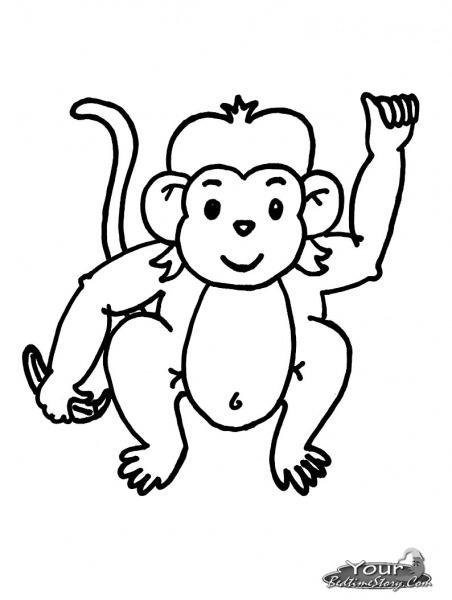 Macaco Para Colorir – Pampekids Net