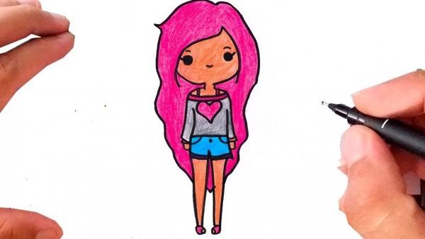 Como Desenhar Boneca Tumblr