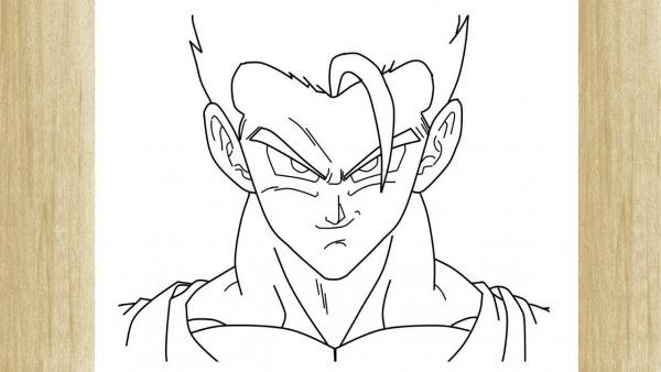 How To Draw Gohan From Dragon Ball Z     Como Desenhar O Gohan De