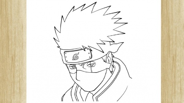 How To Draw Kakashi Hatake From Naruto     Como Desenhar O Kakashi