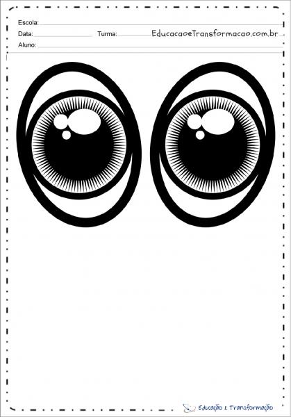 Moldes De Olhos E Bocas Para Imprimir – Educação E Transformação
