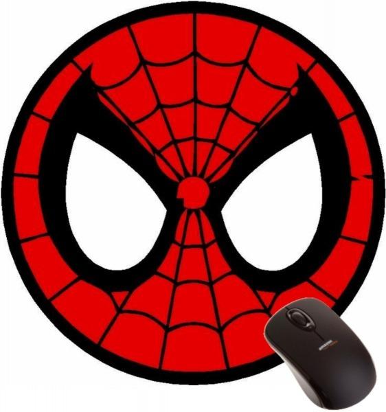 Mousepad Homem Aranha Máscara Super Herói Marvel Desenho