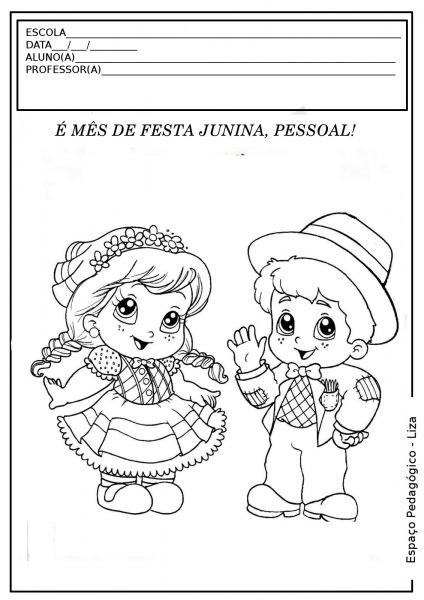Imagens Para Colorir De Festa Junina