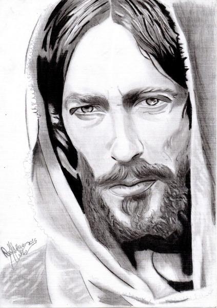 Quadro Desenho Realista De Jesus Cristo
