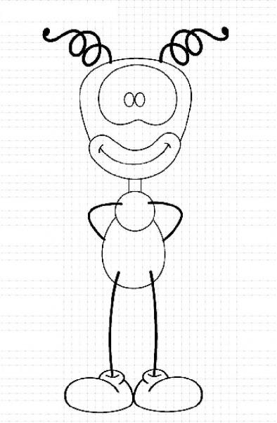 Desenho Smilinguido Para Imprimir
