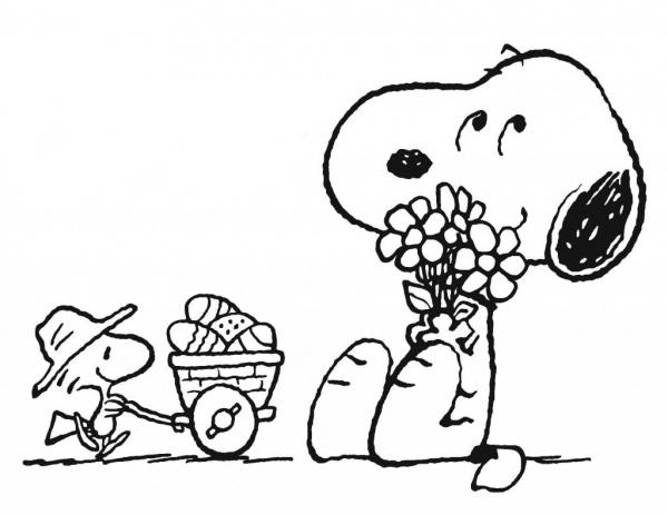 Desenho De Snoopy E Woodstock Para Colorir