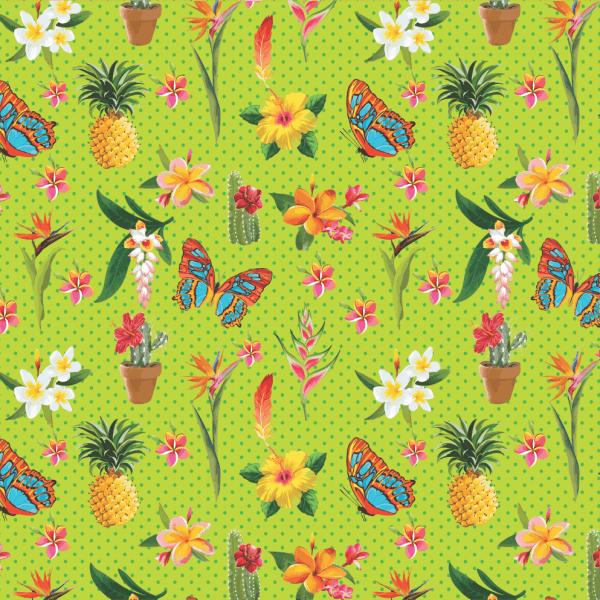 Tecido Estampado Digital Em Tricoline 100  Algodão Flora E Figuras