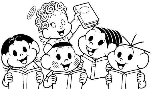 Desenhos De Colorir  Mônica, Cebolinha, Magali, Cascão E Anjinho