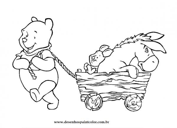 Para Colorir  Ursinho Pooh E Sua Turma