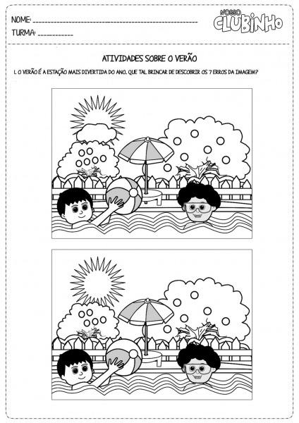 VerÃo Desenhos E Atividades Para Colorir Pintar Imprimir Ii
