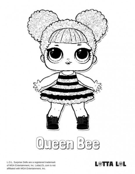 Queen Bee Coloring Page Lotta Lol