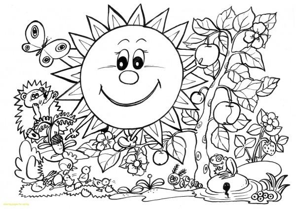 12 Desenhos De Primavera Para Colorir E Imprimir Grátis