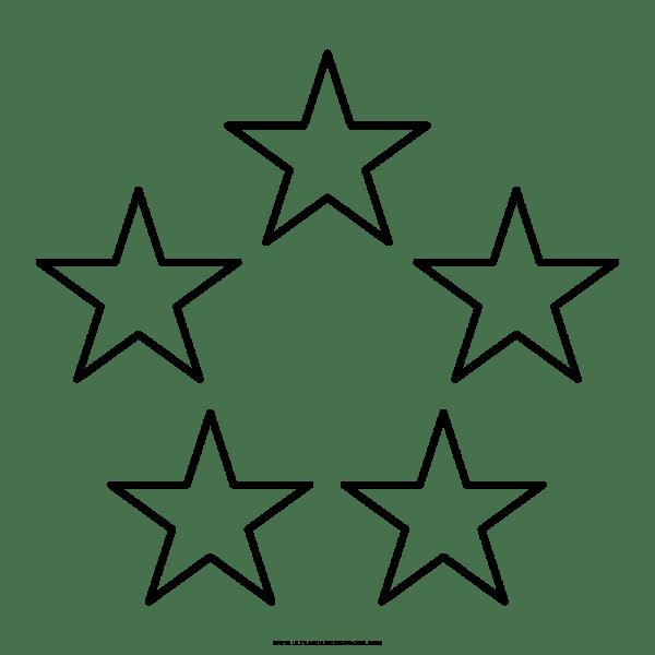 Cinco Estrelas Desenho Para Colorir