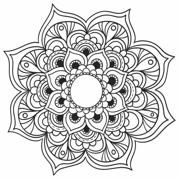 Mandala Para Imprimir – Colorir