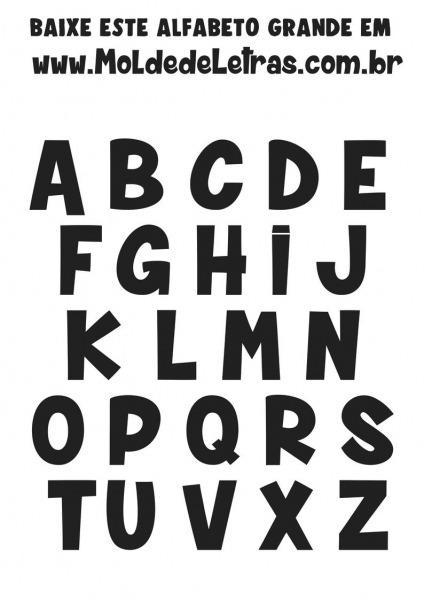 Moldes De Letras Grandes Para Imprimir  Alfabeto  Completo