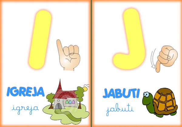 Alfabeto Ilustrado Em Libras Para Imprimir