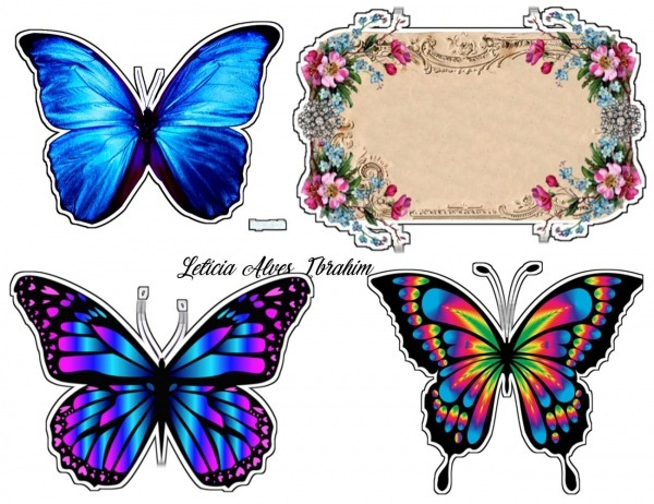 Topper De Borboleta   Butterfly