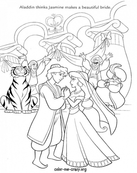 Disney Wedding Drawing Coloring Pages