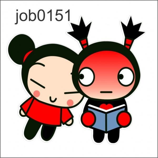 Adesivo Decorativo De Parede Pucca E Garu Desenho Job0151