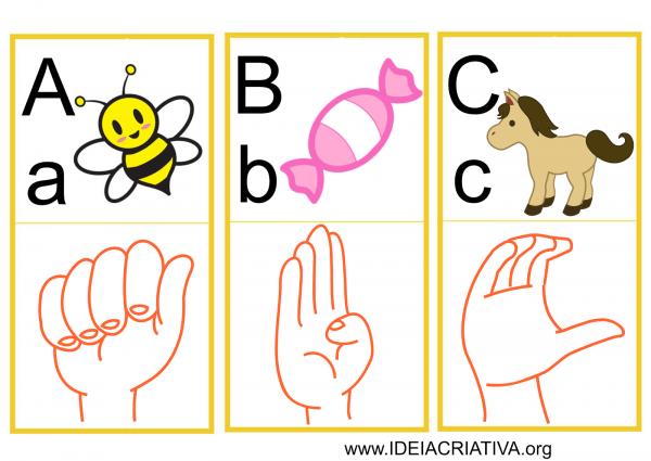 Coisas De Ana Sílvia  Alfabeto Ilustrado Em Libras