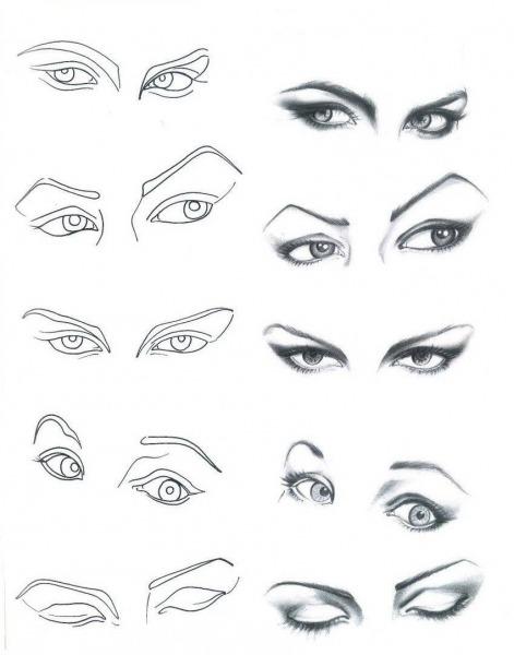 Desenho De Moda  Olhos