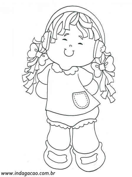 Desenho De Menina Ouvindo Música Para Pintar